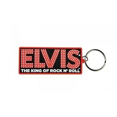 Elvis Presley (King Of Rock N Roll) Rubber Keychain
