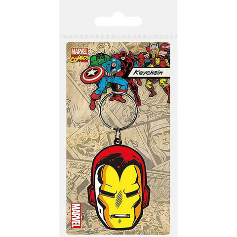 Ironman (Face) Rubber Keychain