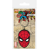 Spiderman (Face) Rubber Keychain