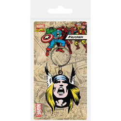 Thor (Face) Rubber Keychain