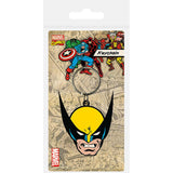 Wolverine (Face) Rubber Keychain