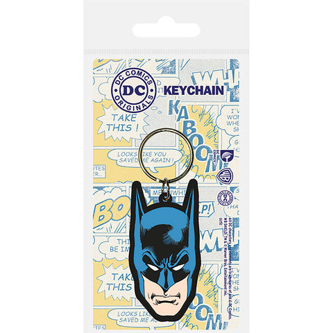 Batman (Head) Rubber Keychain