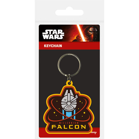 Star Wars Episode VII (Millenium Falcon) Rubber Keychain