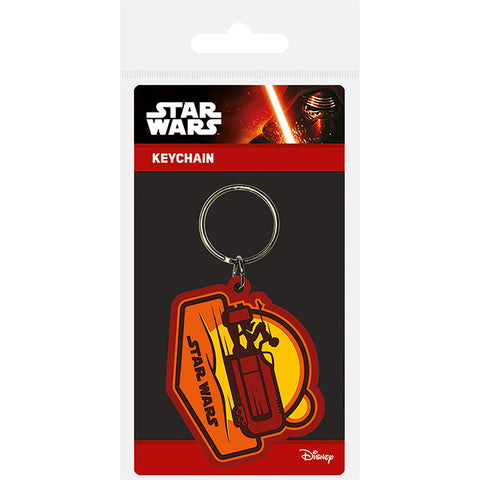 Star Wars Episode VII (Rey Speeder) Rubber Keychain