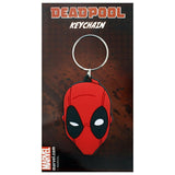 Deadpool (Face) Rubber Keychain