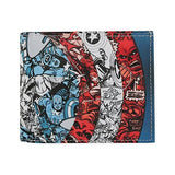 Marvel Captain America Blue Bi-Fold Wallet