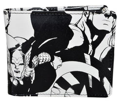 Marvel Avengers Assemble Black & White Bi-Fold Wallet