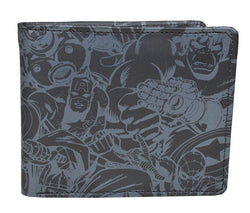 Marvel Comics Black & Grey Bi-Fold Wallet