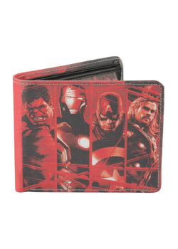 Avengers - Age Of Ultron Red Bi-Fold Wallet