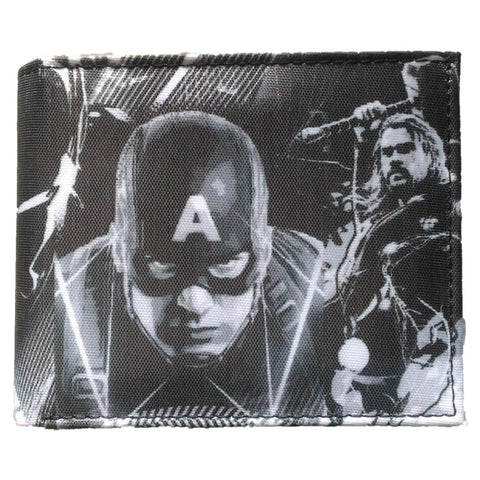 Avengers Black And White Collage Bi-Fold Wallet