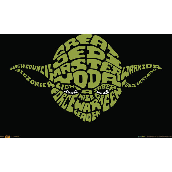 Official Star Wars Yoda Words A3 Poster