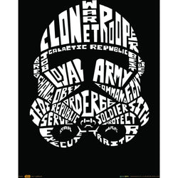 Official Star Wars Stormtrooper Words A3 Poster