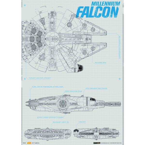 Official Star Wars Millennium Falcon A3 Poster