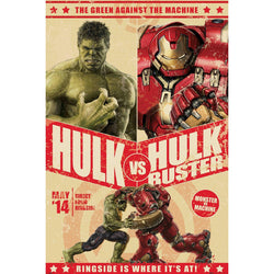 Official The Avengers - Age Of Ultron (Hulk Vs Hulk Buster - Match Up) A3 Poster
