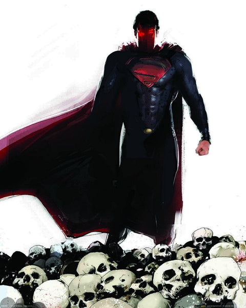 Superman Skulls Mini Poster