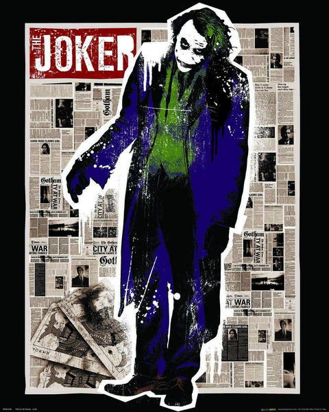 The Dark Knight Joker Newspaper Mini Poster