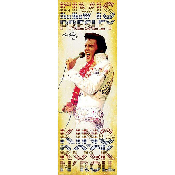 Elivs Presley (King Of Rock N Roll) Door Poster
