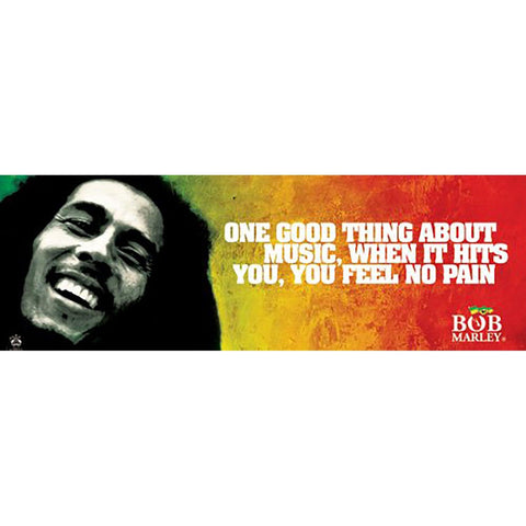 Bob Marley (Music Quote) Slim Poster