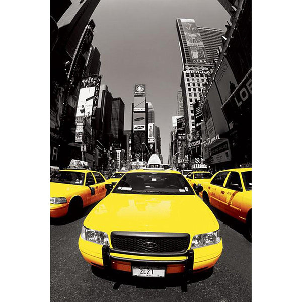 New York Times Square Yellow Cabs NYC Maxi Poster