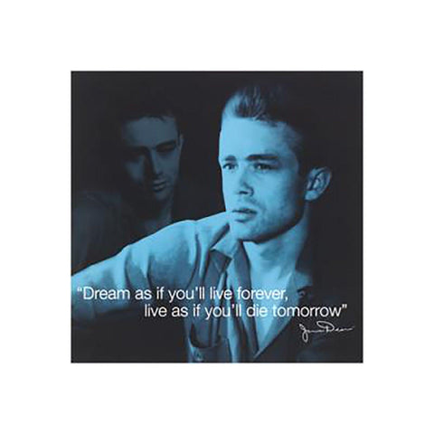 James Dean (I-Quote - Dream) Art Print