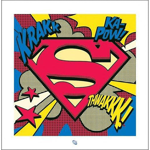 Superman (Pop Art Shield) Art Print