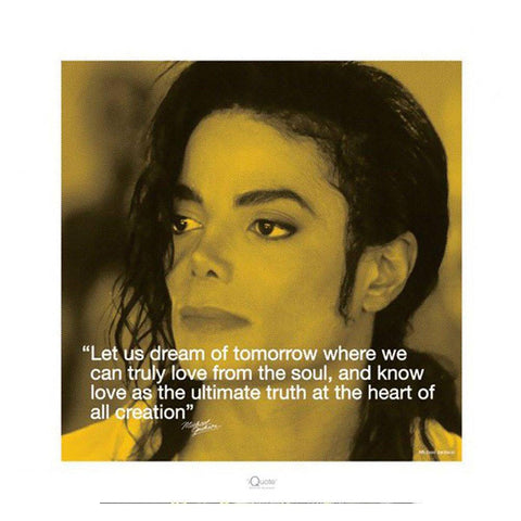 Michael Jackson (I-Quote Dream) Art Print