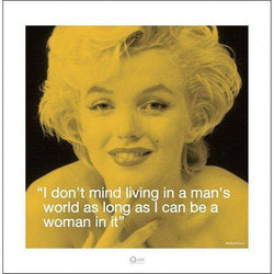 Marilyn Monroe (I.Quote - Man'S World) Art Print