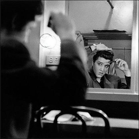 Elvis Presley (Mirror) Art Print