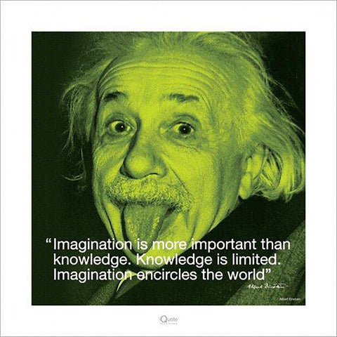 Albert Einstein (I.Quote - Imagination) Art Print