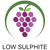 Low or no sulphite wine icon logo meaning this wine has a low or no sulphite levels.