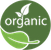 organic wine icon logo meaning produced under organic certified methods