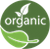 Organic wine icon and logo meaning this wine is produced under organic certified methods.