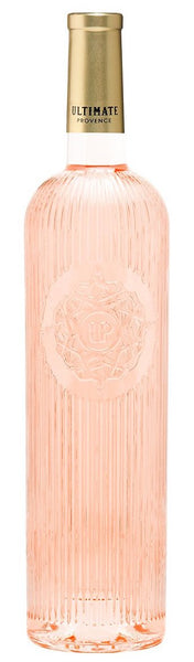 Provence rosé wine style bottle with label stating the 2019 vintage UP Rose by Ultimate Provence, from Provence, France.
