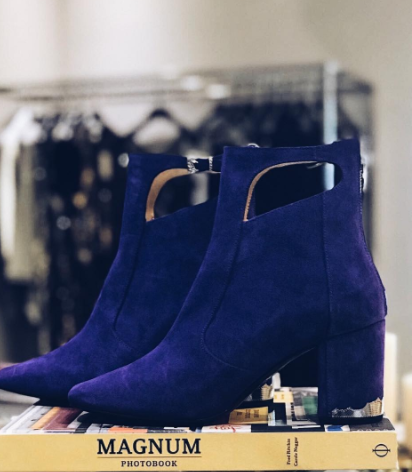TOGA PULLA - Purple Suede Bot
