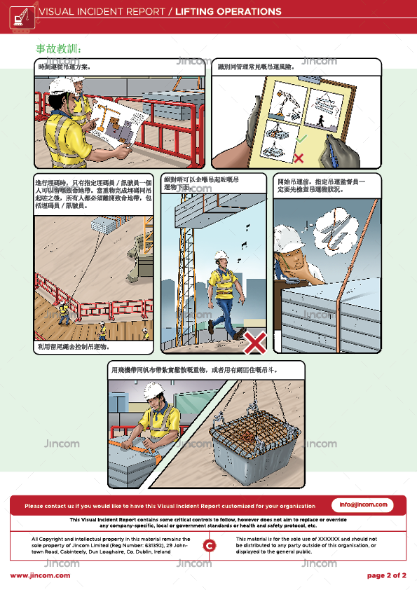 Lifting Operations | Visual Incident Report | Cantonese