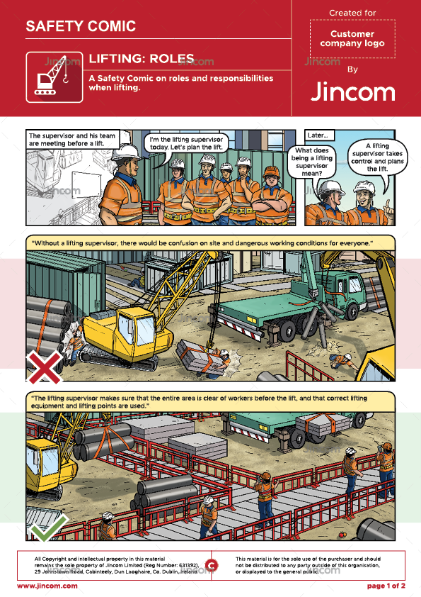 Lifting Operations: Roles | Safety Comic