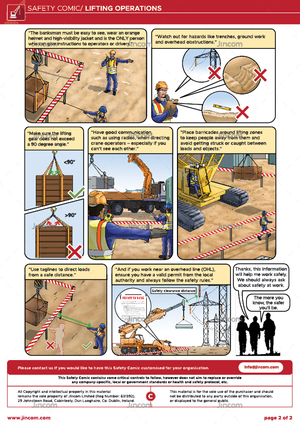 Lifting Operations | Safety Comic
