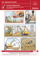 Lifting Operations | Key Message Poster