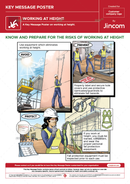 Working at Height | Key Message Poster