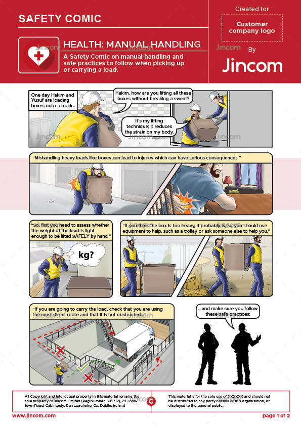 Health: Manual Handling | Safety Comic