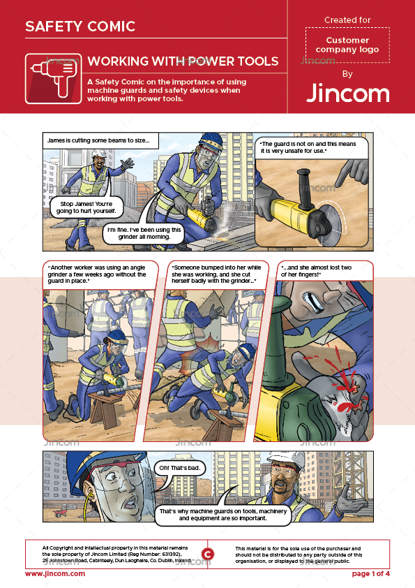 Working with Power Tools | Safety Comic