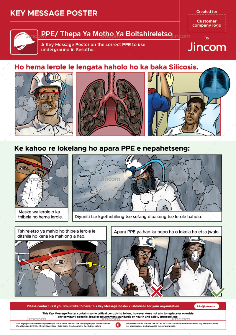 PPE | Key Message Poster | Sesotho