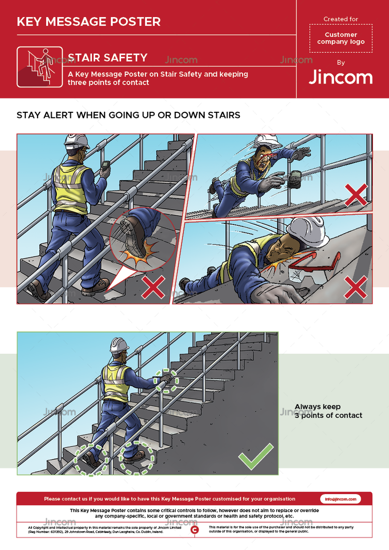 Stair Safety | Key Message Poster