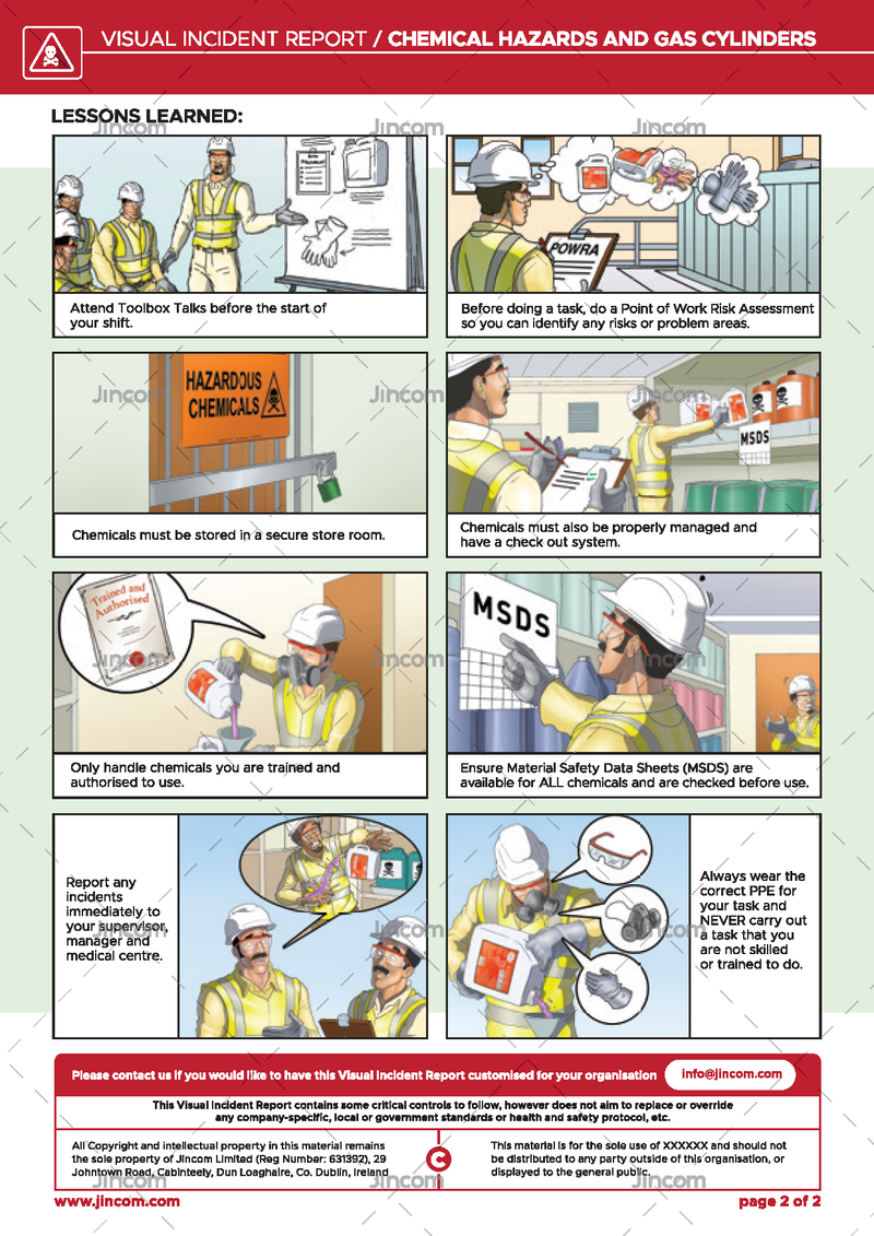 Chemical Hazards & Gas Cylinders | Visual Incident Report