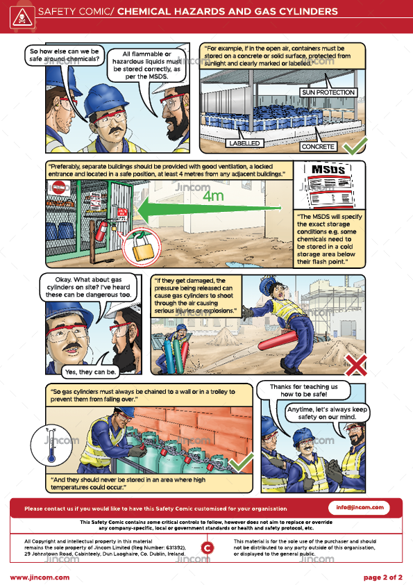 Chemical Hazards & Gas Cylinders | Safety Comic