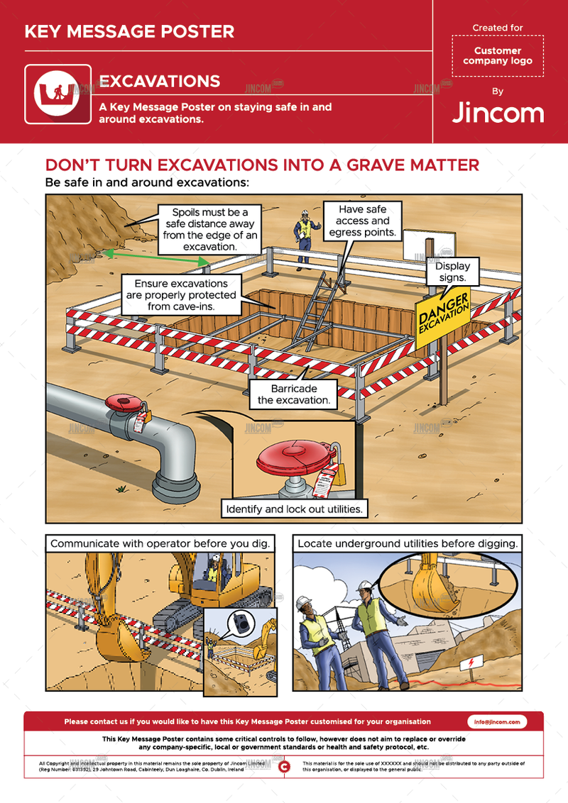 Excavations | Key Message Poster
