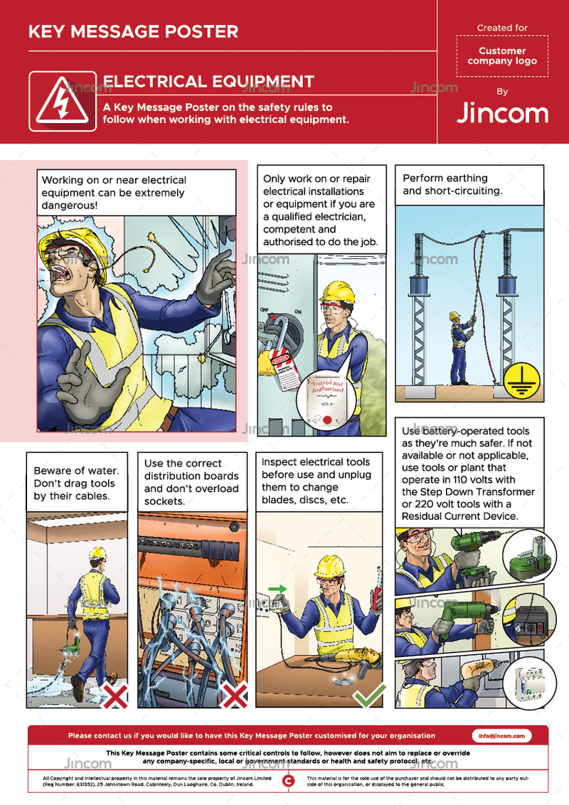 Electrical Equipment | Key Message Poster