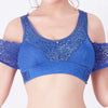 WIRELESS CROSS STRAP LACE BRA