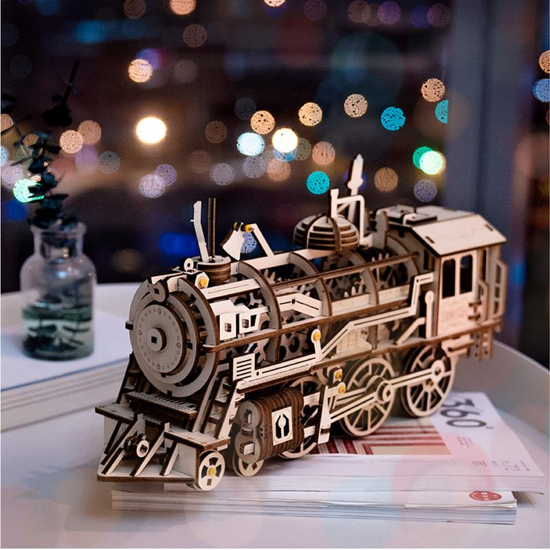 3D WOODEN PUZZLE TRAIN (GEAR DRIVE)