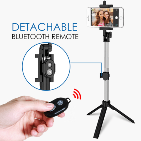 4 IN 1 BLUETOOTH TRIPOD SELFIE STICK